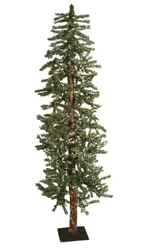 6' Snowy Flocked Alpine Artificial Christmas Tree - Unlit