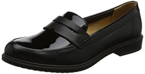 Hotter Damen Dorset Slipper Black (Black Black Patent)