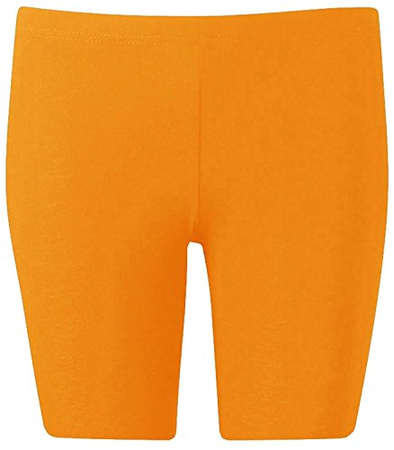 New Womens Plus Size Over Knee Plain Jersey Cycling Shorts ( Mustard, XL )