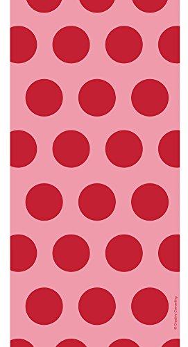 Polka Dot Cello Bags (Creative Converting 20 Count Polka Dot Cello Bags, Classic Red)
