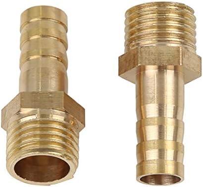 X AUTOHAUX Flexible 8mm ID X 1//4 NPT M/âle Raccord Cannel/é Tuyau Laiton Voiture 5pcs