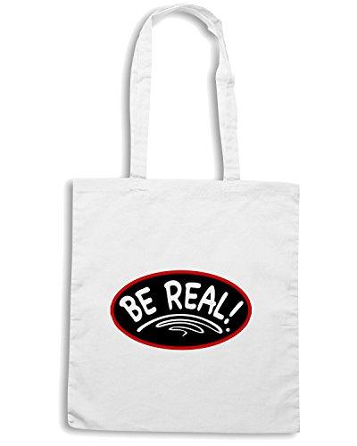 T-Shirtshock - Bolsa para la compra OLDENG00212 rbw be real Blanco