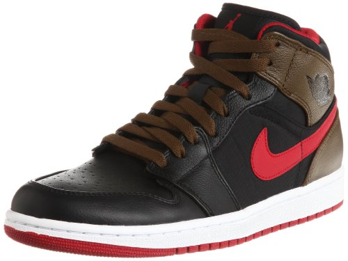 Nike Air Jordan 1 Phat Mid Mens Basketball Shoes 364770-040 Black 10.5 M US by Jordan