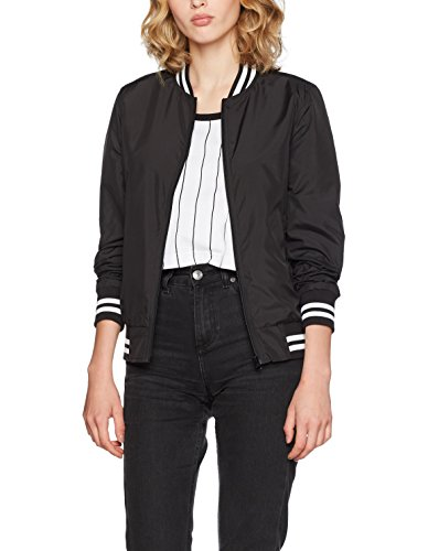 Urban Ladies noir College Nylon Jacket Black Femme Veste Classics S5fqrWcnS