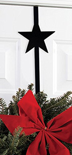 Iron Star Christmas Wreath Hanger - 13'' Winter Door Hook, Wreath Hook for Front Door,Chrstimas Decorations by IronWorks
