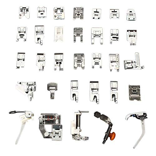 0.25 Presser Foot (certainPL 32 Pcs Domestic Sewing Machine Presser Foot Feet Set Compatible for Babylock, Singer, Janome, Brother, Pfaff, Toyota, Kenmore & More (Silver))