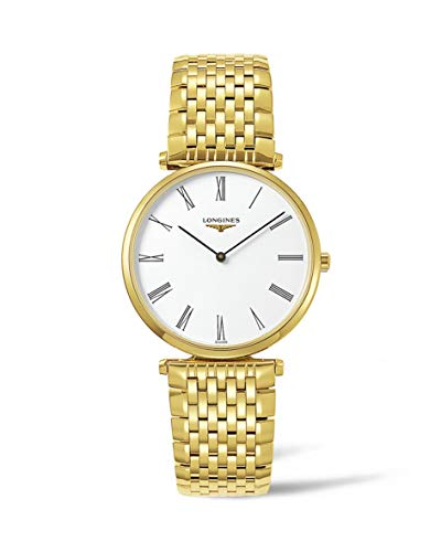 Longines La Grande Classique Quartz White Dial Gold-tone Case Mens Watch L4.755.2.11.8 ()