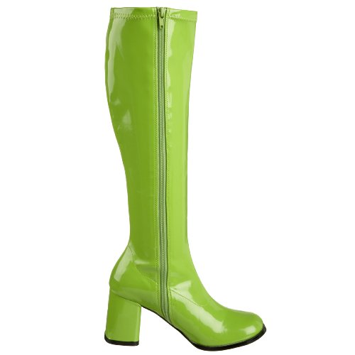 Funtasma By Pleaser Womens Gogo-300 Boot Lime Stretch Patent