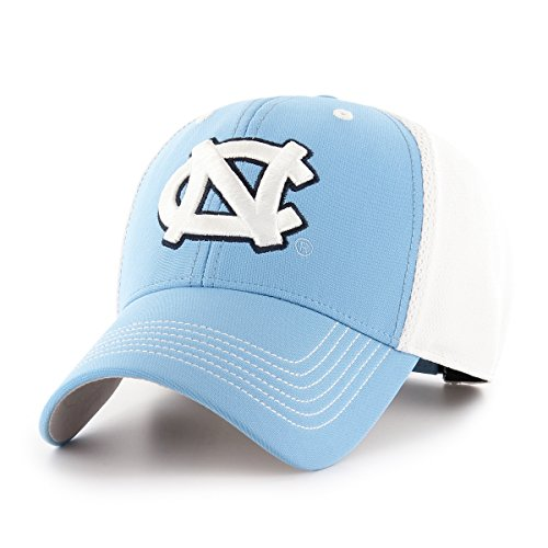 Ncaa Fitted Cap Hat - OTS NCAA North Carolina Tar Heels Sling All-Star MVP Adjustable Hat, Columbia, One Size