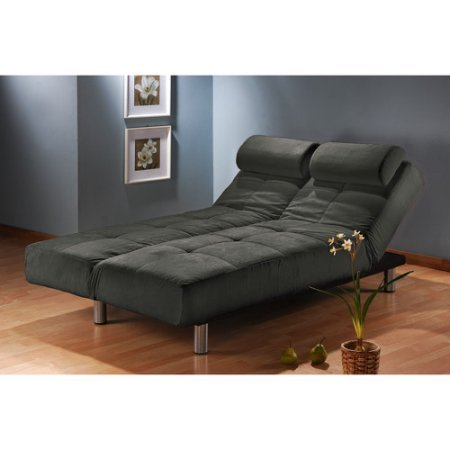 Atherton Home Convertible Sofa Bed and Lounger Futon (Slate)
