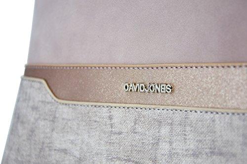 Bugatti Jones de Senora Nude Dama y classico hombro David de saffiano Bolso y paillette Elegante bag moda mujer con piel Rosa para Bolso Rosa Nude City mano imitación Nubuck bandolera Bolso 0Exqd