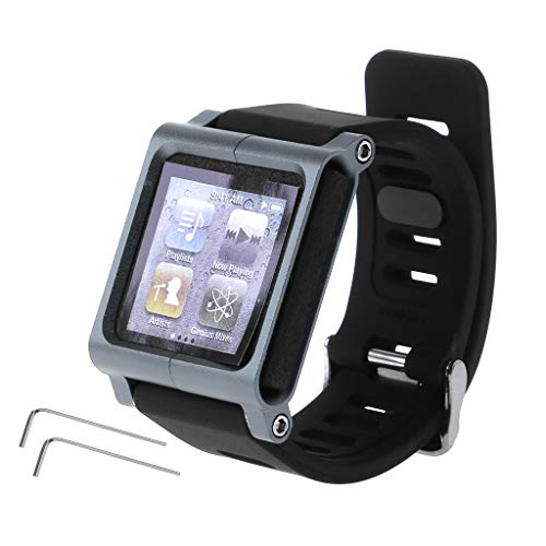JAGENIE Smart Aluminum Metal Watch Band Wrist Kit Cover Case for Apple iPod Nano 6 6th (Mp3 Player Braclet)