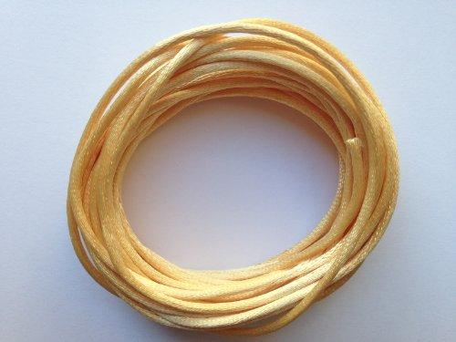 Kourtney's Crafts Tan Satin Rattail Nylon Cord 2mm 15yds Bundle DIY