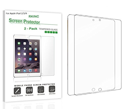 Tempered Glass Screen Protector for Apple iPad 2/3/4 - 8