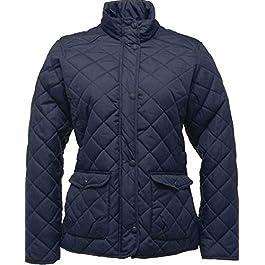 Regatta Ladies Diamond Quilted Jacket Water Repellent Womans Winterwarm Long Sleeve Jacket Coat
