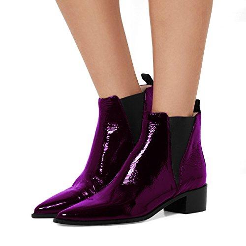 1af84615f4f Fsj Femmes Chic Fermé Orteil Imperméable Chelsea Bottines Chunky Talons Bas  Confortables Chaussures Taille 4-