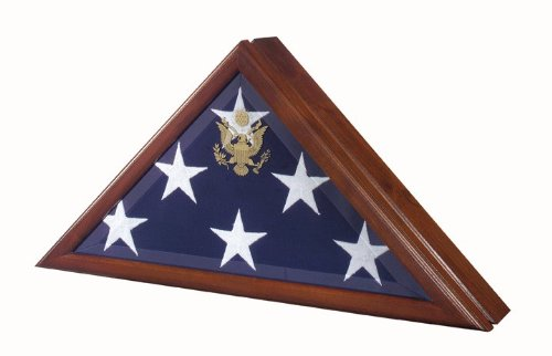 Vice Presidential Flag Case for 5 'x 9.5' Burial Flags – Made in USA