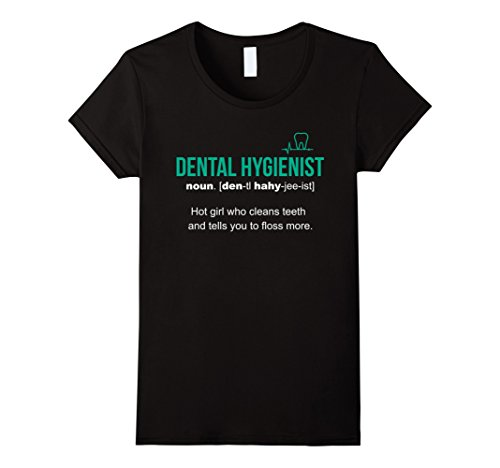 Women's Dental Hygienist Definition Funny Gift T-Shirt Medium Black