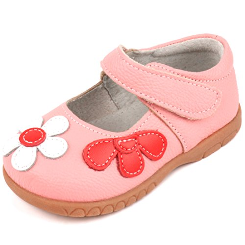 Femizee Fashion Leather Flats Shoes Mary Jane Shoes for Toddler Girls,Pink,1529 - Fashion Kids Shoes Girls