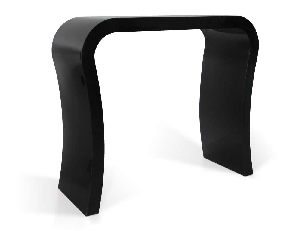 High Gloss Black Modern Designer Hallway Console Table Dressing - Black gloss dressing table