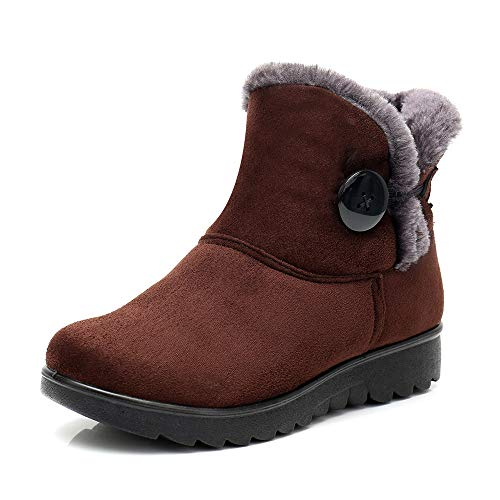 SMALLE ◕‿◕ Clearance,Women's Ladies Winter Ankle Martin Short Snow Boots Fur Footwear Warm Shoes by SMALLE