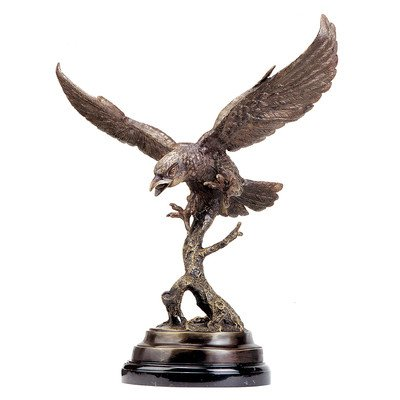 Design Toscano Eagle in Flight Quality Lost Wax Bronze Statue