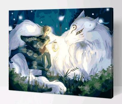 Prime Leader Wooden Framed Diy Oil Painting, Paint By Number Kit Fairy Tales 16x20 Inch