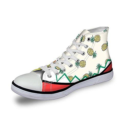 Pour Les Conceptions Élégantes Des Femmes Filles Lacets Haut Haut Sneakers Chaussures Occasionnels Jaune 1