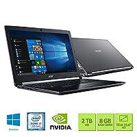 "Notebook Acer Aspire 5 A515-51G-71CN Intel Core i7-7500U 8GB RAM 2TB HD NVIDIA GeForce 940MX com 2 GB GDDR5 15.6"" HD Windows 10"