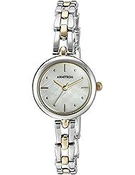 Armitron Womens 75/5496MPTT Two-Tone Bracelet Watch