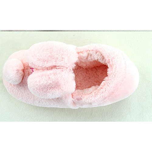 Slippers Winter Btrada Moccasin Cotton Couple Lined Pink Indoor Dog Cartoon Outdoor Fur Cozy Slippers Womens qYYran5wx4