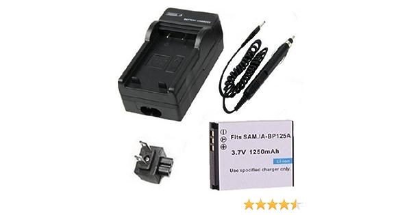 QF30 T10 Akku Q200 Liste! Netz+Kfz+USB Q130 QF320 IA-BP125A f/ür Samsung HMX-M20 T11 s Q100 Ladeger/ät