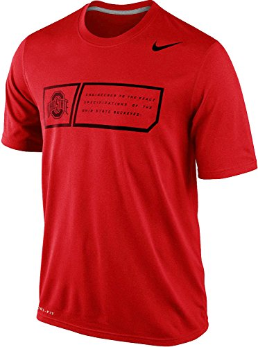 Nike Ohio State Buckeyes Men's Legend Training Day Dri-FIT T-Shirt (XL, Red)