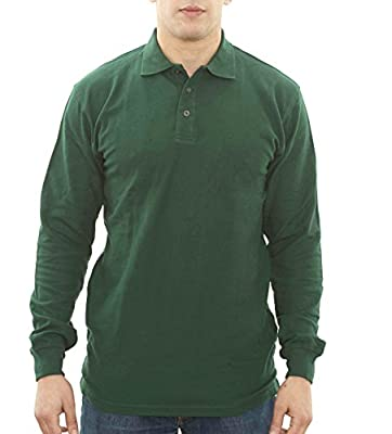 Parker Basics Men's Long Sleeve Traditional Fit Polo Shirt - From Size Small Through 3XL