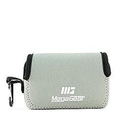 Megagear Sony Cyber-shot Dsc-rx100 V, Dsc-rx100 Iv, Dsc-rx100 Iii, Dsc-rx100 Ii Ultra Light Neoprene Camera Case, With Carabiner - Gray - Mg084