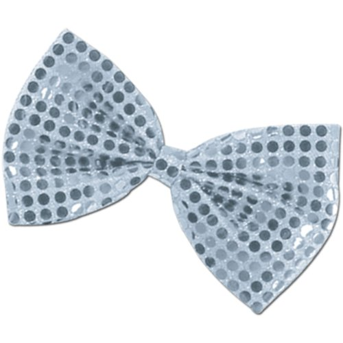 Glitz 'N Gleam Bow Tie (silver) Party Accessory  (1 count) (1/Pkg)]()