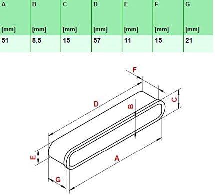 wiedergutschlafen - Juego de 10 tapas para fijación de listones en el somier., madera, 113_51x21x8,5 mm