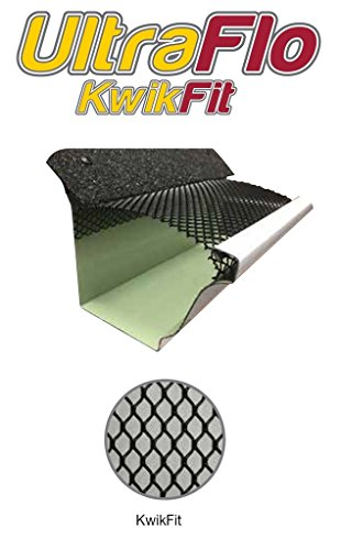 Aluminum Gutter Covers ((100 feet) Kwik-Fit Gutter Leaf Guard for 6