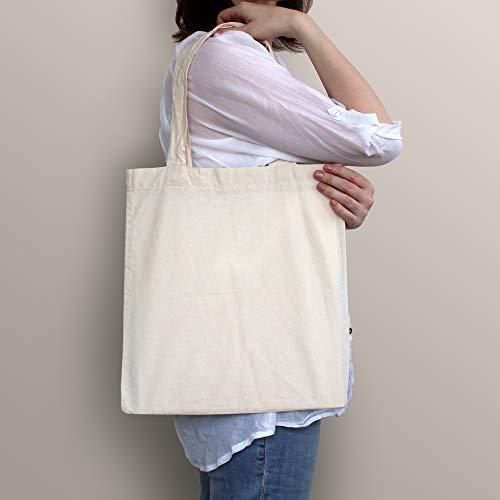 1d3b18a49138 BULK 12 PACK (1 Dozen) Wholesale 100% Cotton Tote Bags, Plain Reusable Art  and Craft Party Pack Tote Bags, Kitchen Storage Organization Tote Bags