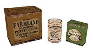 Ohio Wholesale Garden Advertising Tins, Set of 3, from our Garden Collection