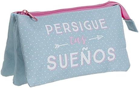 Dcasa - Estuche 3 bolsillos persigue tus sueños: Amazon.es: Hogar