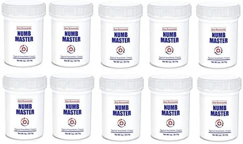 Numb Master 5% Topical Anesthetic Lidocaine Cream (10 Pk) Child-Resistant Cap