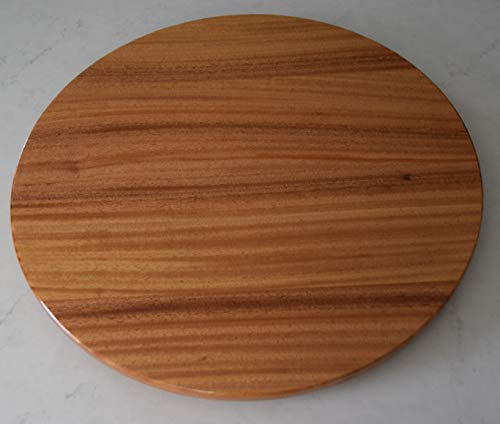 - 24 inch wood Mahogany Lazy Susan with a Natural finish