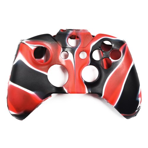 Cosmos ® Camouflage Red/Black Color Silicone Protective Case for XBOX ONE Controller