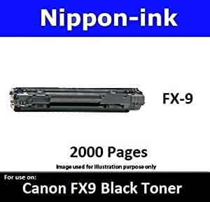 Nippon-ink Canon FX9 For Use on Canon Laser Toner - L110/ 120/140/ 160/ MF4150/ 4122/4680/ 4270/4380/ 4370/4320/ 4350 L140, Black, one Size