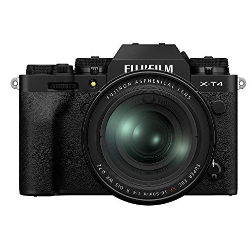 Fujifilm X-T4 Mirrorless Digital Camera XF16-80mm Lens Kit – Black