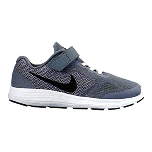 NIKE Kids' Revolution 3  Athletic Shoe, cool grey/black-whit