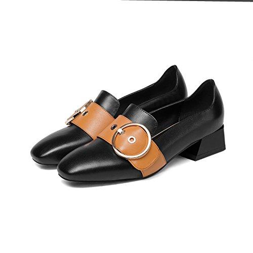 Femme Loisir Plat Chaussures Black de pour à Fond 4YpzqU
