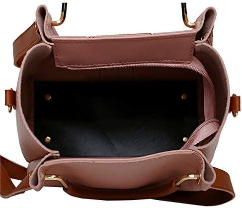女性4個のレジャーバケットバッグハンドバッグクロスボディバッグショルダーバッグクラッチバッグキーバッグ女性の財布 YZUEYT