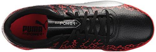 Puma Mens Evopower Vigueur 4 Graphique It Chaussure De Soccer Puma Noir-argent-corail Ardent